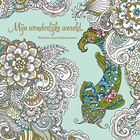 My wondrous World 1  - coloring book by Masja van den Berg